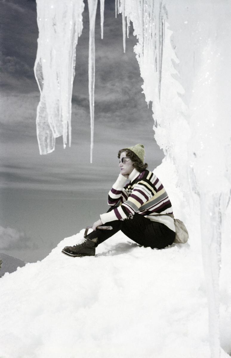 Ingibjörg Ólafsdóttir, Snæfellsjökull glacier, 1957.
