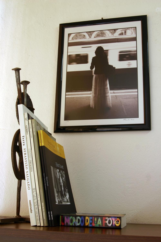 Photographer Marcello Framba's small but sweet photobook library.