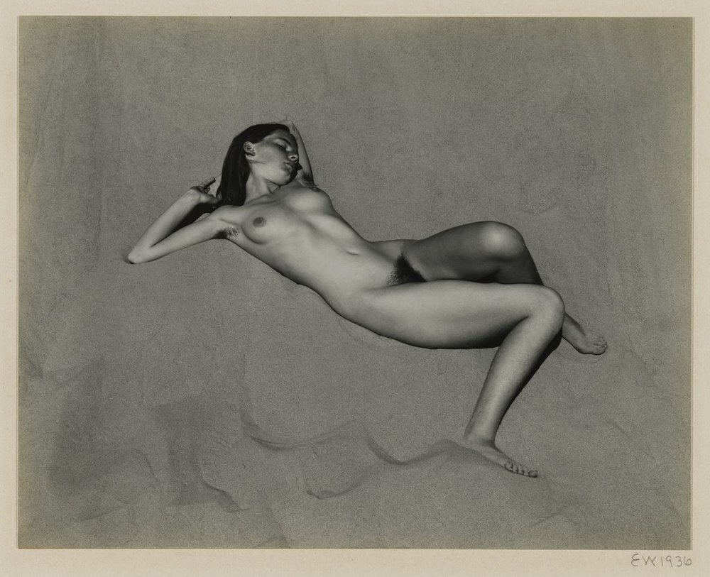 Edward Weston, Nude on Dune, 1936; collection SFMOMA, gift of Carla Emil and Rich Silverstein; © 1981 Center for Creative Photography, Arizona Board of Regents/Artist Rights Society (ARS), New York; photo: Katherine Du Tiel