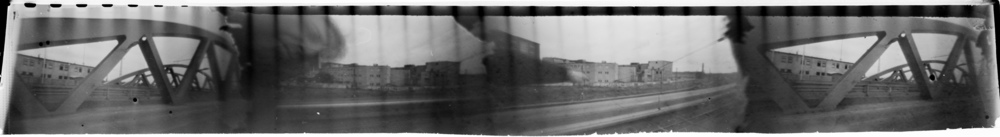 """Bridge"" made with four pinhole camera."