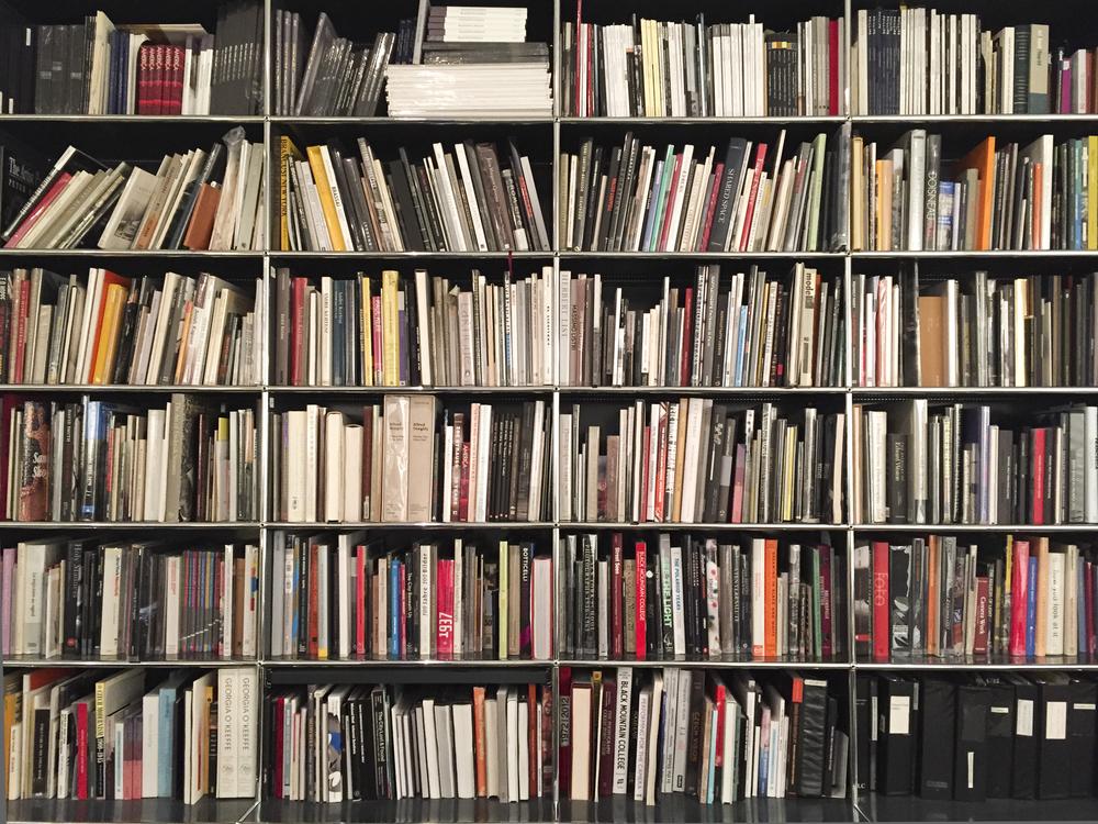 Bruce Silverstein Gallery 's behemoth bookshelf.