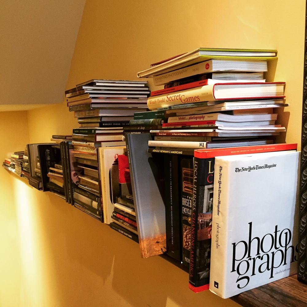 Andrea Birnbaum's stairway shelf.
