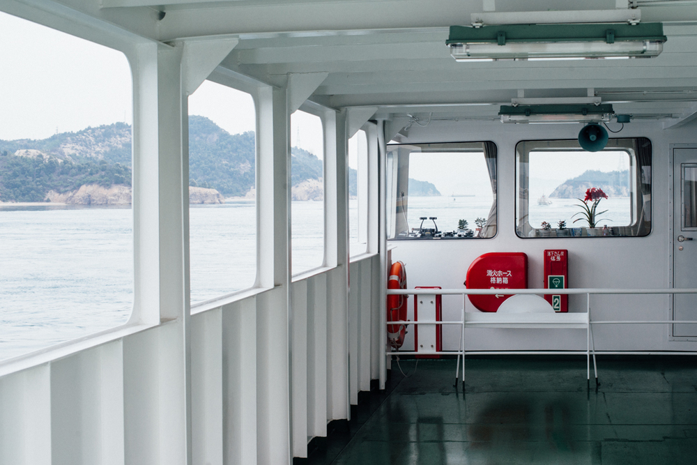 Ferry from Uno Port, Japan