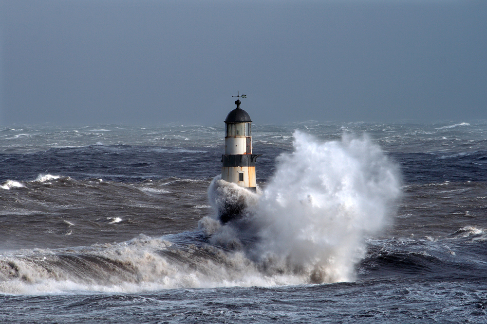 Rough Seas at Seaham Harbor