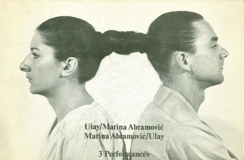 Artists' book by Marina Abramović and Ulay, via  Wikipedia