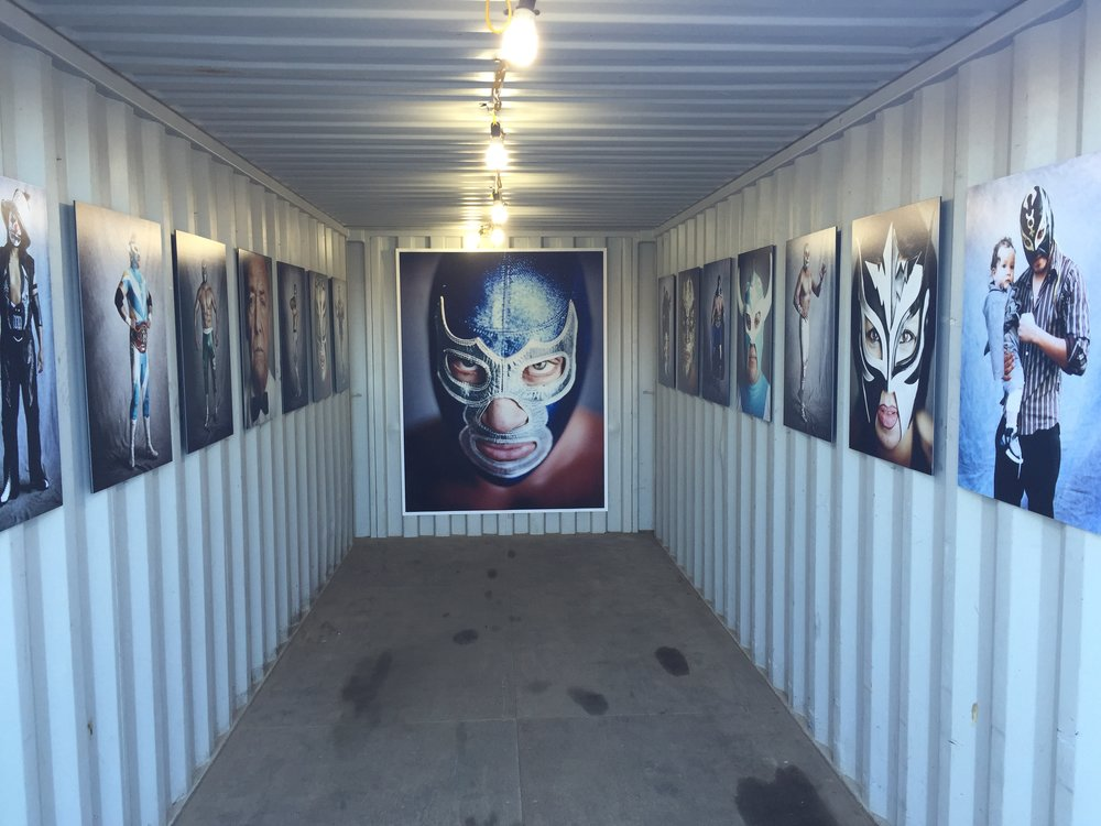 Mark Mann's Lucha Libre installation. Photo by the author.