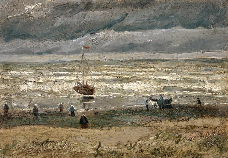 """Seascape at Scheveningen"" (1882) was stolen from the Van Gogh Museum in Amsterdam in 2002"