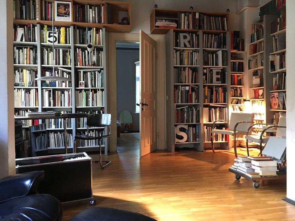 Klaus Frahm's stylish photobook library.