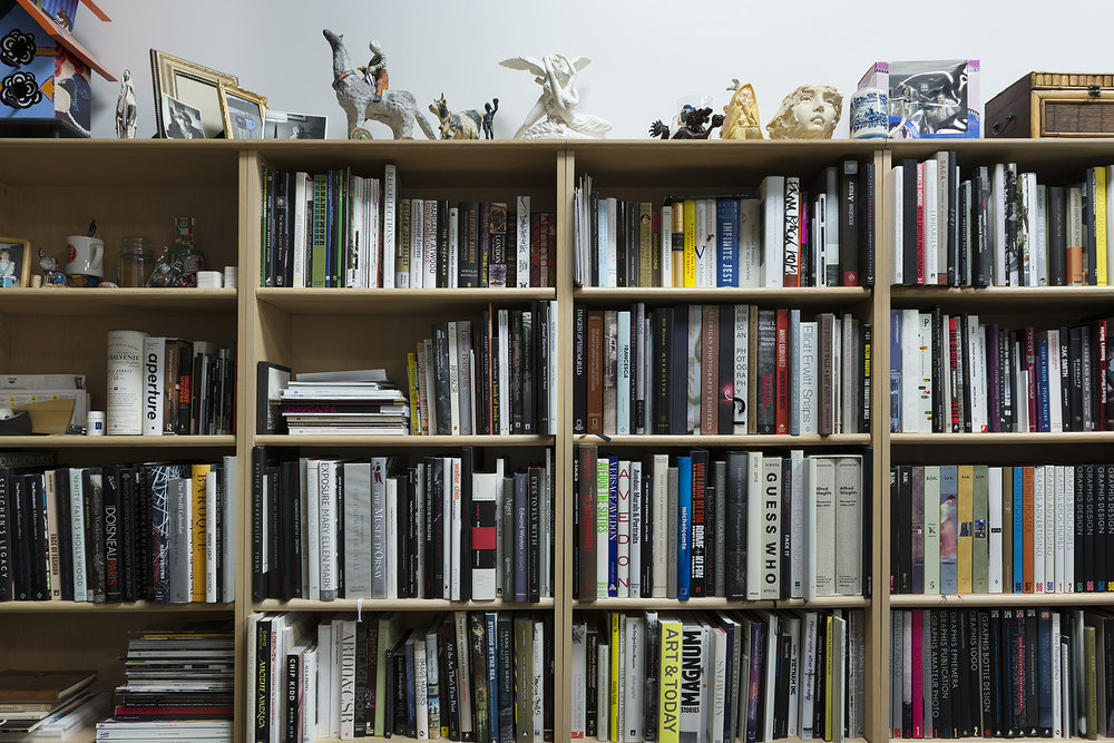One of  Michael Morris ' many bookshelves.