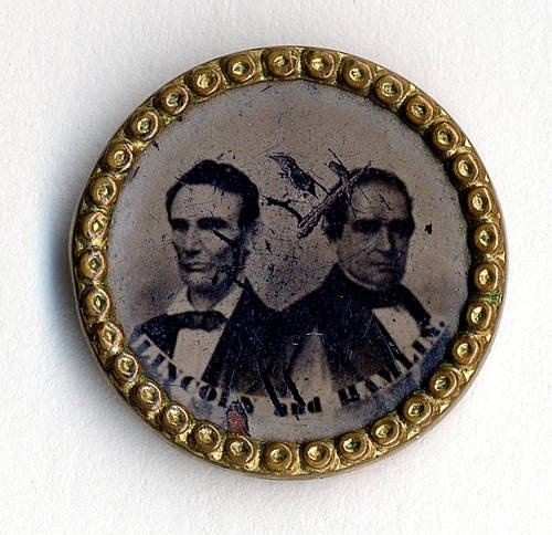 Lincoln-Hamilton 1860 campaign button