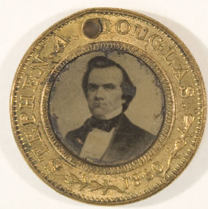 Stephen Douglas' 1860 campaign button