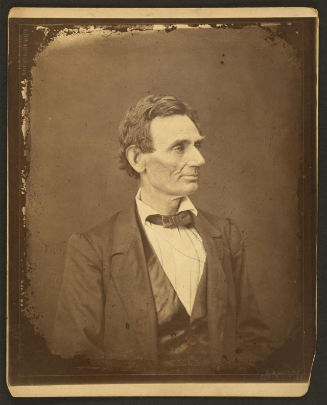 Abraham Lincoln in his hometown of Springfield, Illinois, June 3, 1860 by Alexander Hesler