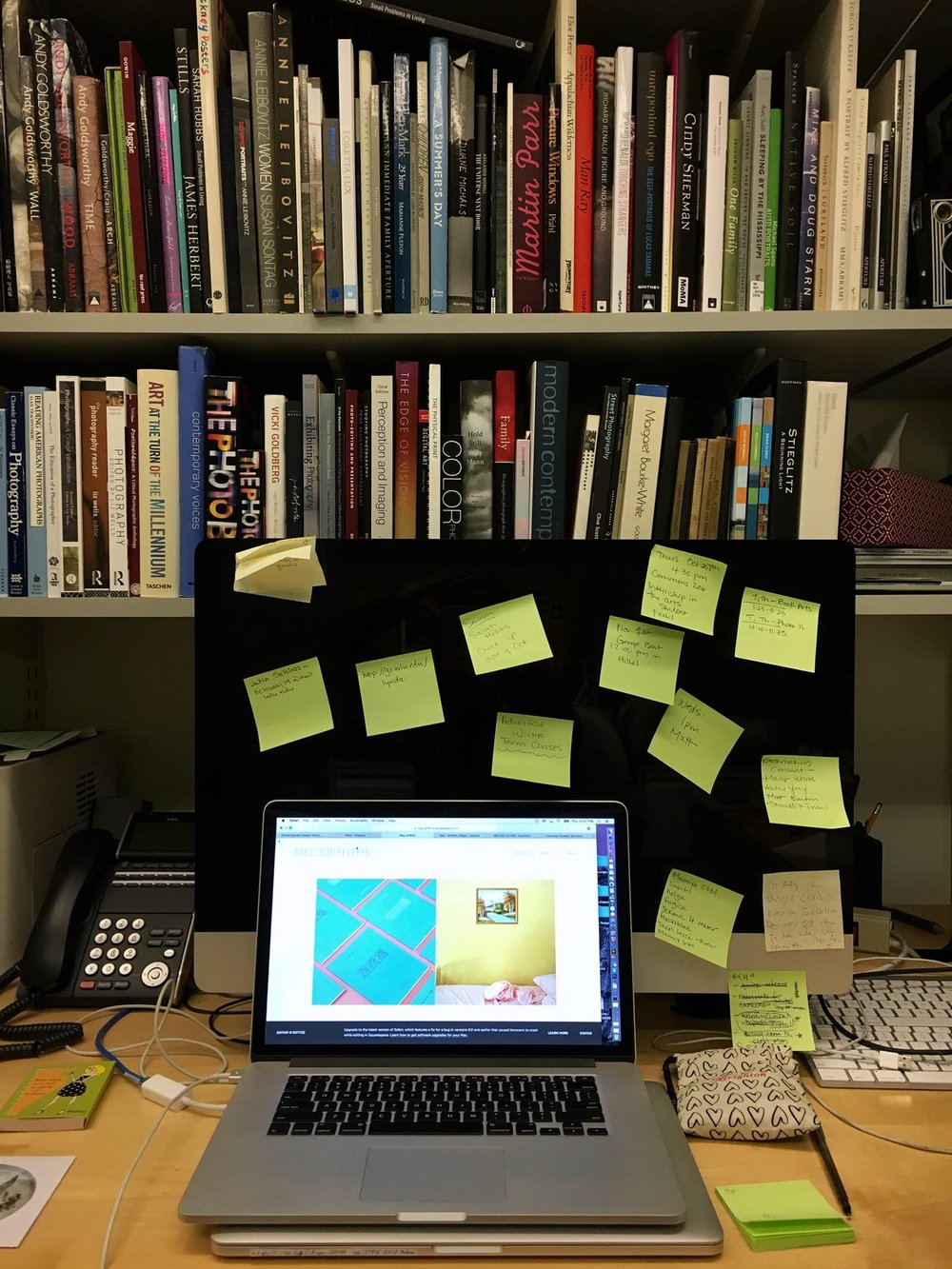 Meg Griffiths ' workspace library.