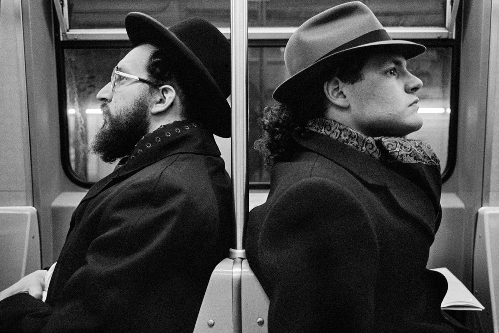 Hasid and Hipster, NYC, 2001 ,  Richard Sandler