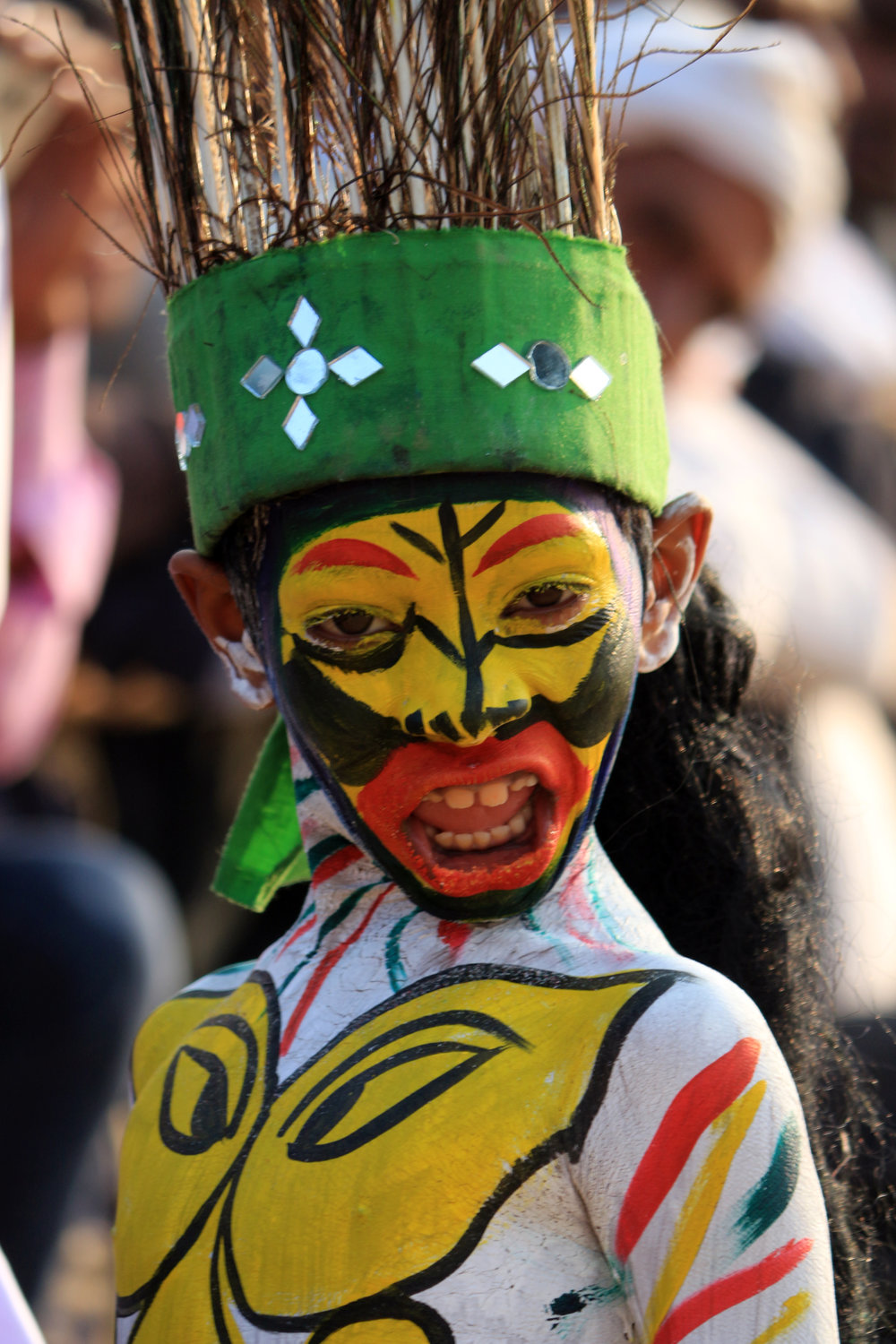 A Boy Presenting Ancient Culture at an Event in Pushkar Fair