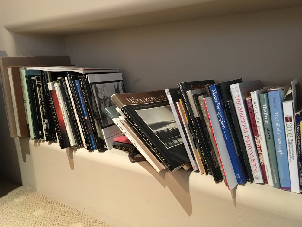 Richard M. Coda's slanted shelf