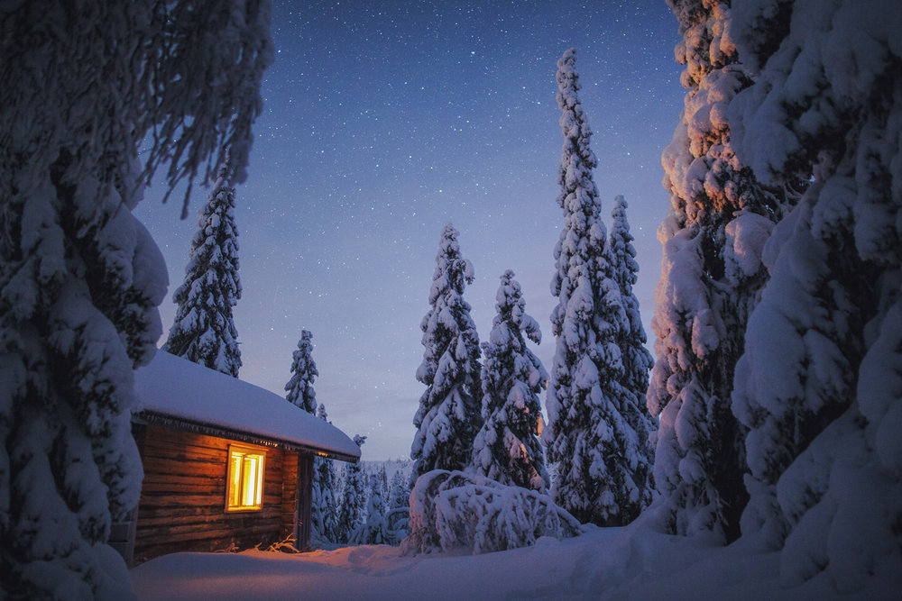 Winter Night, Lapland, Tiina Törmänen