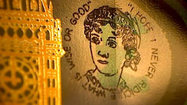 Graham Short's Jane Austen micro-engraving. Courtesy of Graham Short.