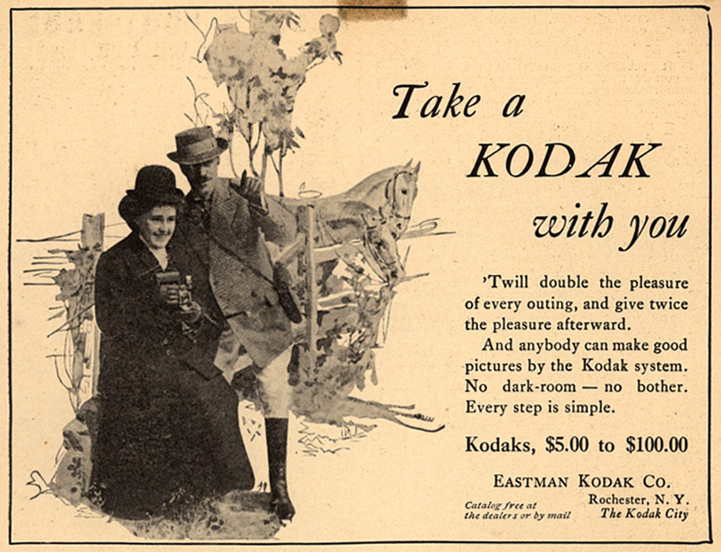 Kodak Advertisement in National Sportsman Magazine, 1908