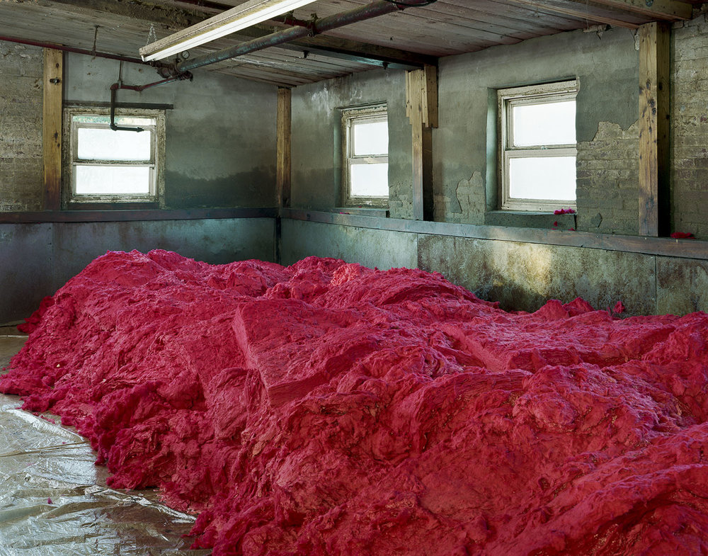 Raw Dyed Wool Before Carding, S&D Spinning Mill, Millbury, MA, 2012