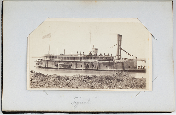 "Iron-clad Civil War Steamer ""Signal."" Carte-de-visite, 1862-1863."