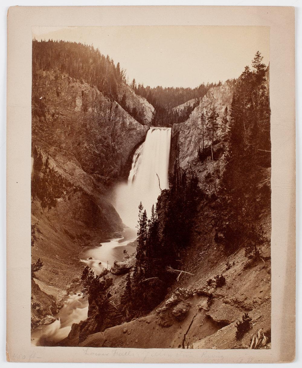 Joshua Crissman. Lower Falls, Yellowstone River. Albumen print. Bozeman, Montana, 1871.