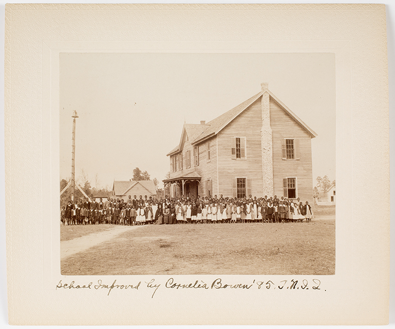 School Improved by Cornelia Bowen . Albumen print. Tuskegee Normal and Industrial Institute. Tuskegee, Alabama, ca. 1890-1900.