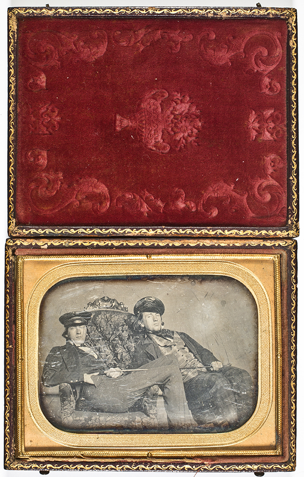 Portrait of photographers T.P. and D.C.   Collins . Daguerreotype, Philadelphia, 1846. Quarter plate. Gift of Rebecca Norris, 2015.