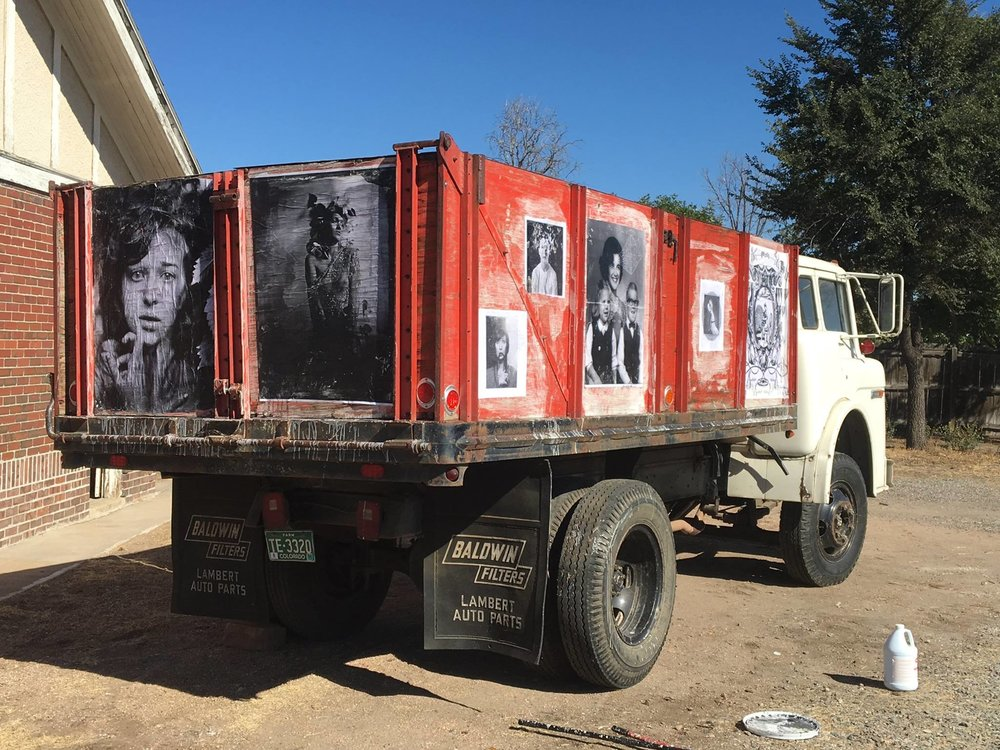 The Big Pictures on a truck, 2015