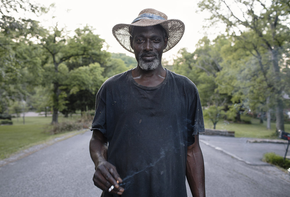 Lawn Care Guy with Cigarette, Nashville, TN