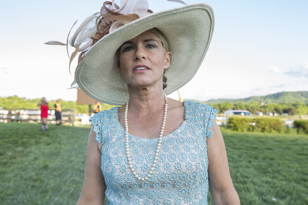 Woman in Hat at 72nd Iroquois Steeplechase, Nashville, TN