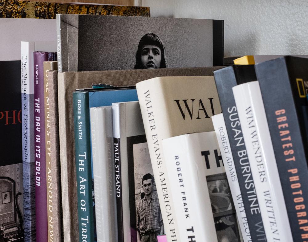 A closer look at Wayne Swanson's photobook library.