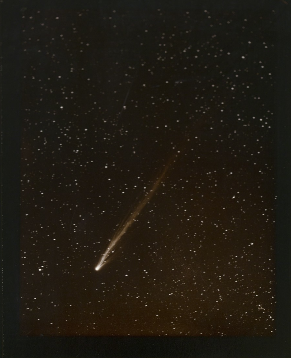 Morehouse Comet, 1908, Linda Connor, 1996, Gold toned printing out paper from original glass plate negative, 12.5 x 10.5 inches. On view at Booth 444.