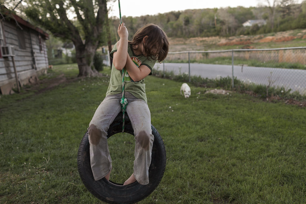 Macy on Tire Swing, Kingston, TN 2011