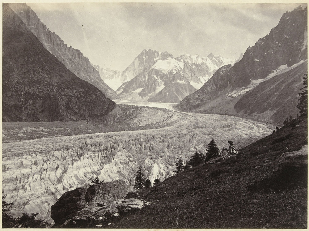 Gletsjer in Zwitserland; Views of Switzerland and Savoy; La mer de glace Montenvers, Chamonix. Photo courtesy of Europena Collections