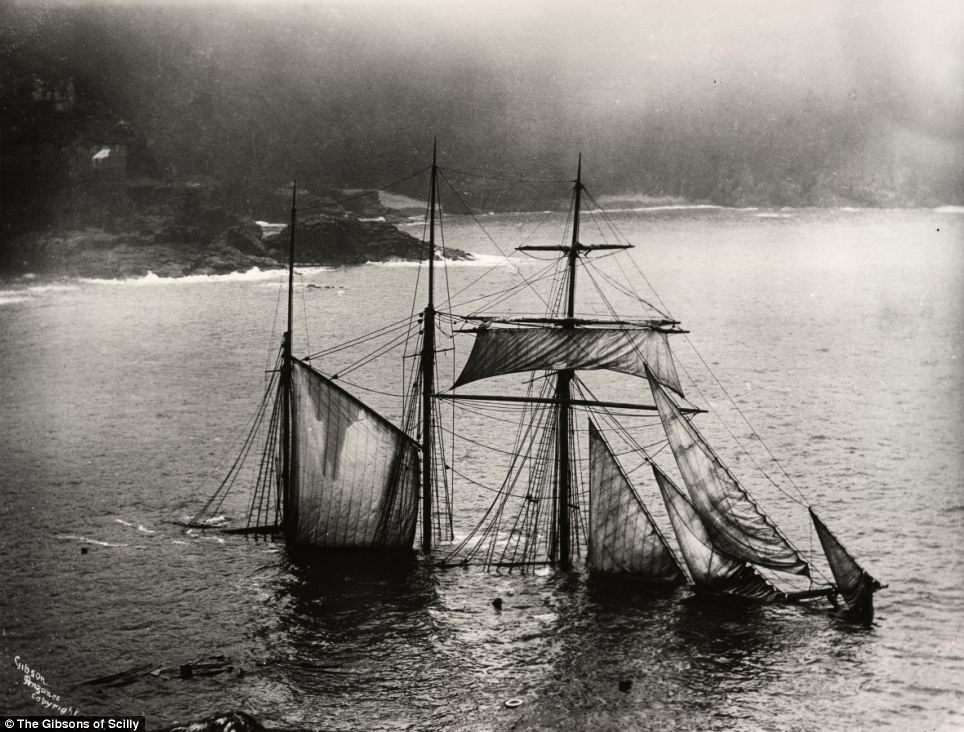 The Mildred was sailing from Newport to London when a dense fog caused it to hit the rocks at Gurnards Head at midnight on the April 6, 1912. Captain Larcombe and his crew rowed safely into St. Ives.