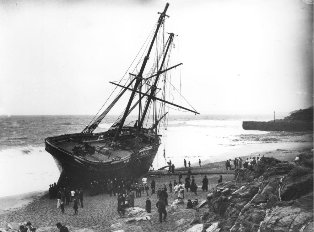 The Cviet which ran aground near Porthleven in 1884