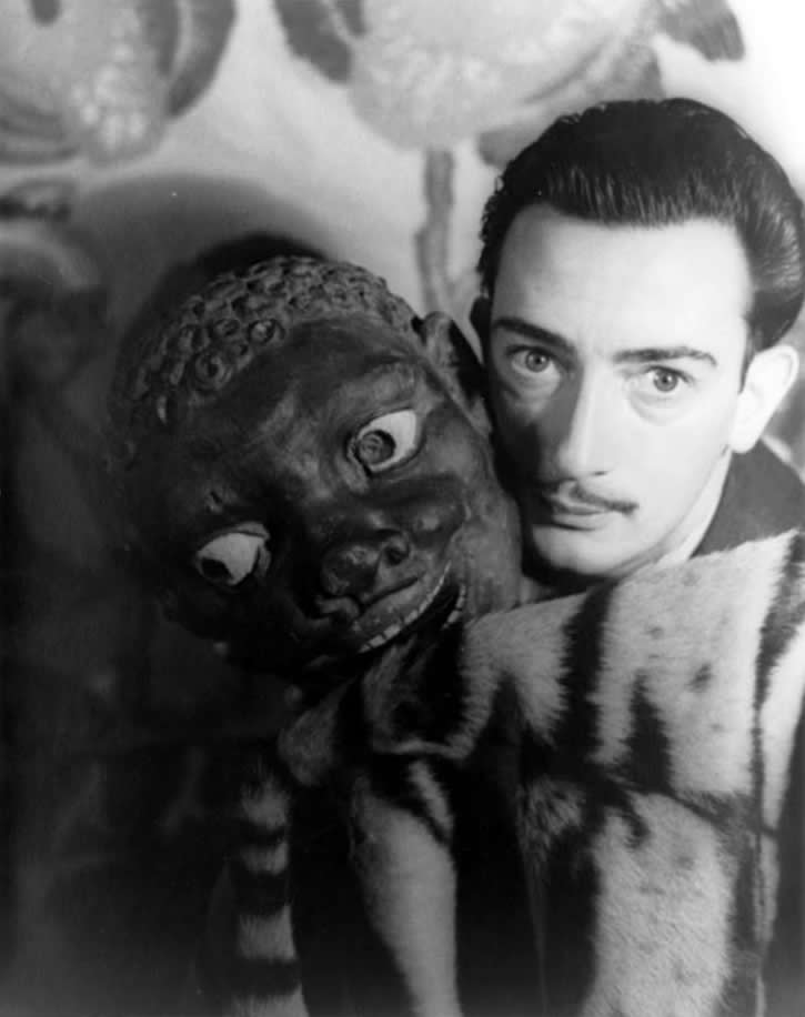 Salvador Dali by Carl Van Vechten via Wikimedia Commons