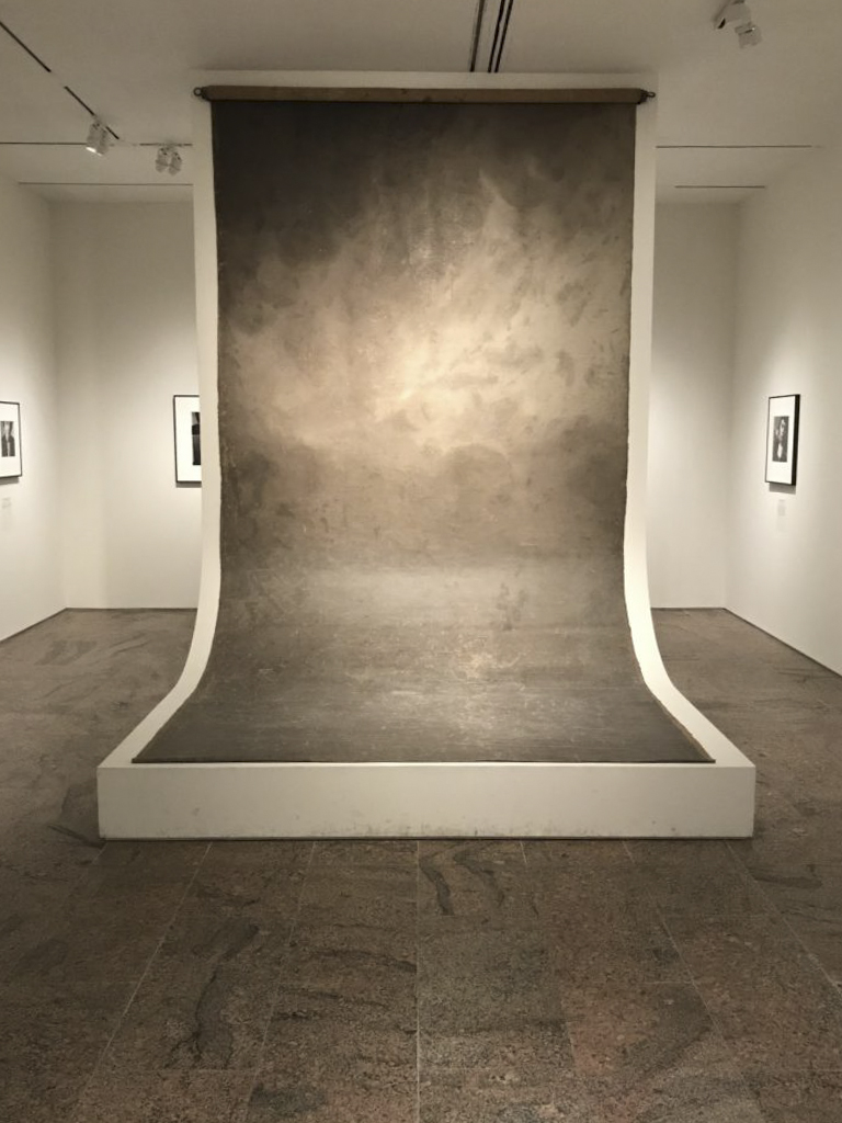 Irving Penn's studio backdrop at The Metropolitan Museum of Art