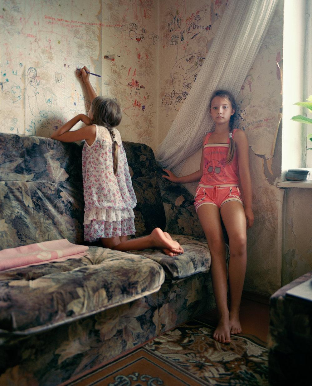 Sasha and Veronika, Lodeynoye Pole, Russia, 2013, Nadia Sablin