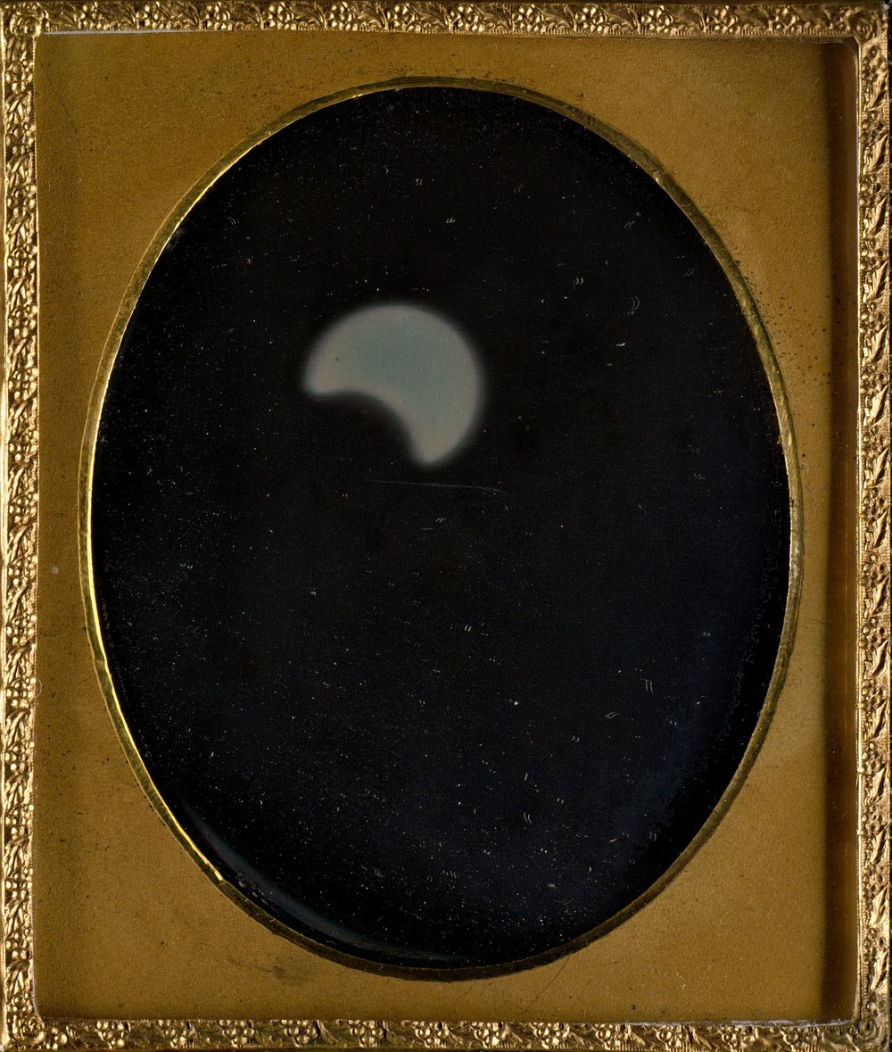William Langenheim (American, born Germany, Schöningen 1807–1874) and Frederick Langenheim (American, born Germany, Schöningen 1809–1879), Eclipse of the Sun, 1854, Daguerreotype.  The Metropolitan Museum of Art, Gilman Collection, Gift of The Howard Gilman Foundation, 2005