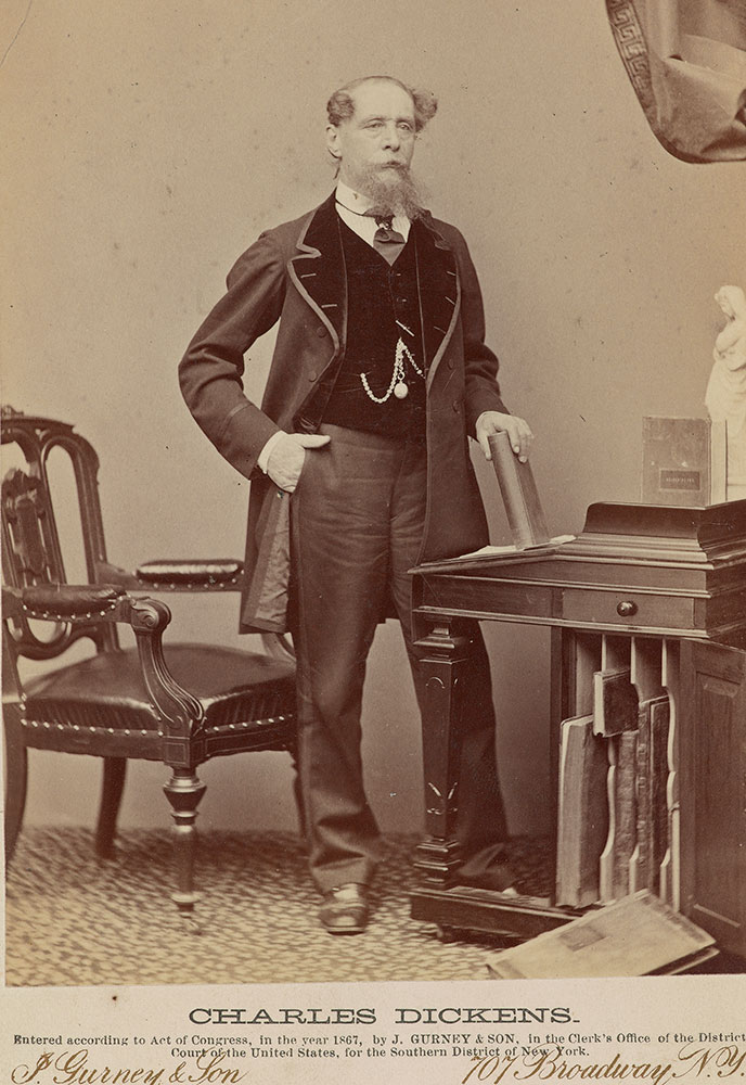 Jeremiah Gurney (1812–1895), Charles Dickens, 1867, black and white photograph, The Morgan Library & Museum, MA 7793. Purchased for The Dannie and Hettie Heineman Collection as a gift of the Heineman Foundation, 2011.