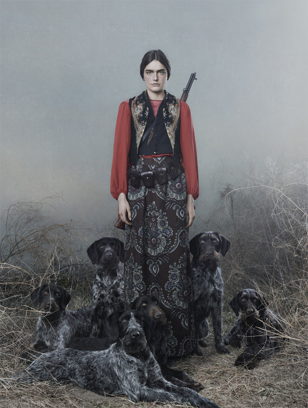 Hounds from the series DiANAS, Frieke Janssens