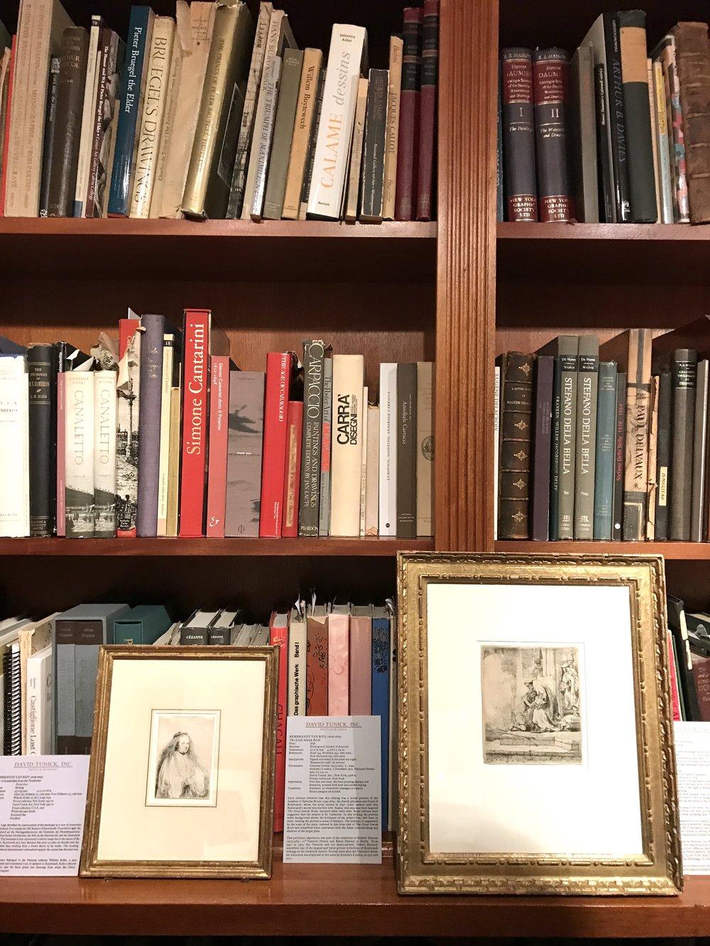 Art history library and Old Masters prints at  David Tunick