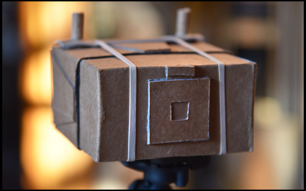 Nick Dvoracek's pinhole camera.