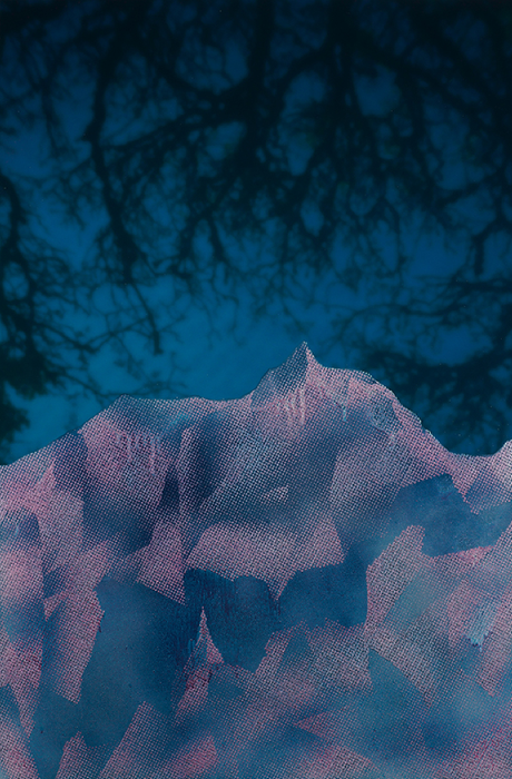 The Explorers #6 , Pigment print scratched with a razor