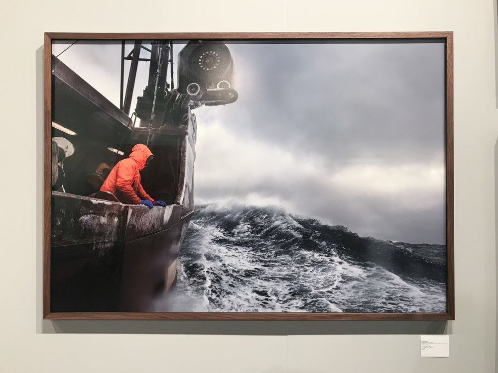 Corey Arnold,  Searching for Buoy Three , 2017, archival pigment print, 39 x 56 inches. On view at Charles A. Hartman Fine Art (Booth 509).
