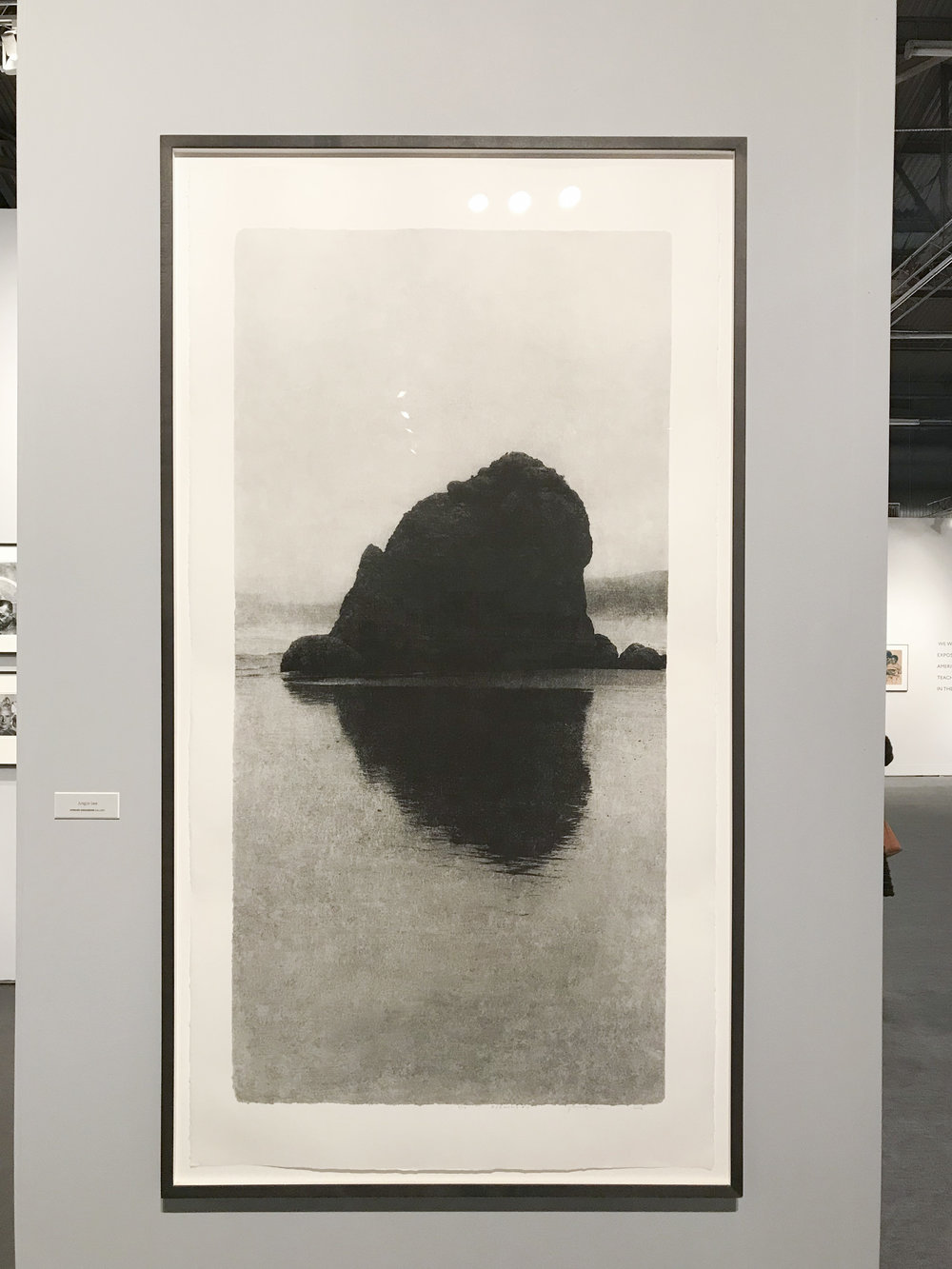 Jungjin Lee,  Opening #13 , 2016, inkjet print on mulberry paper, 50 x 25 inches. On view at Howard Greenberg Gallery (Booth 501).