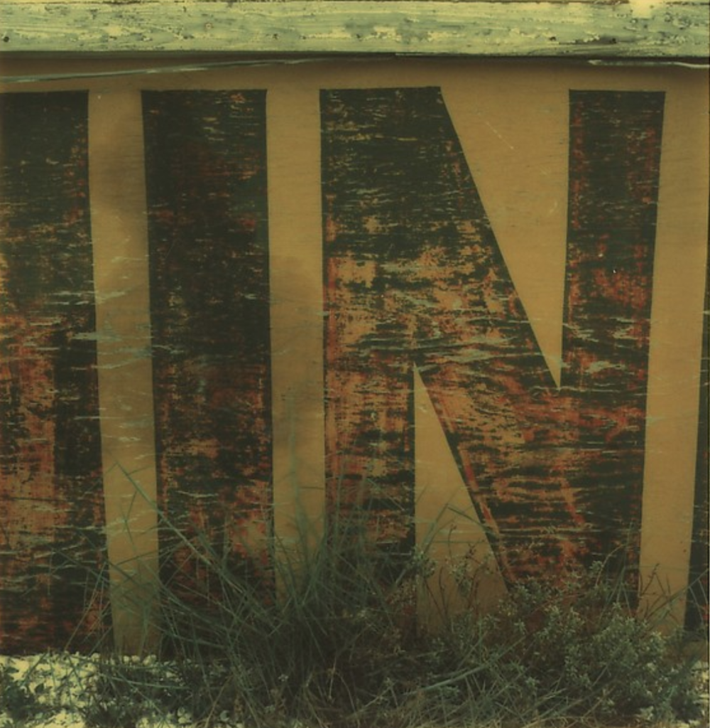 "Detail of Sign: ""IN"", 1974"