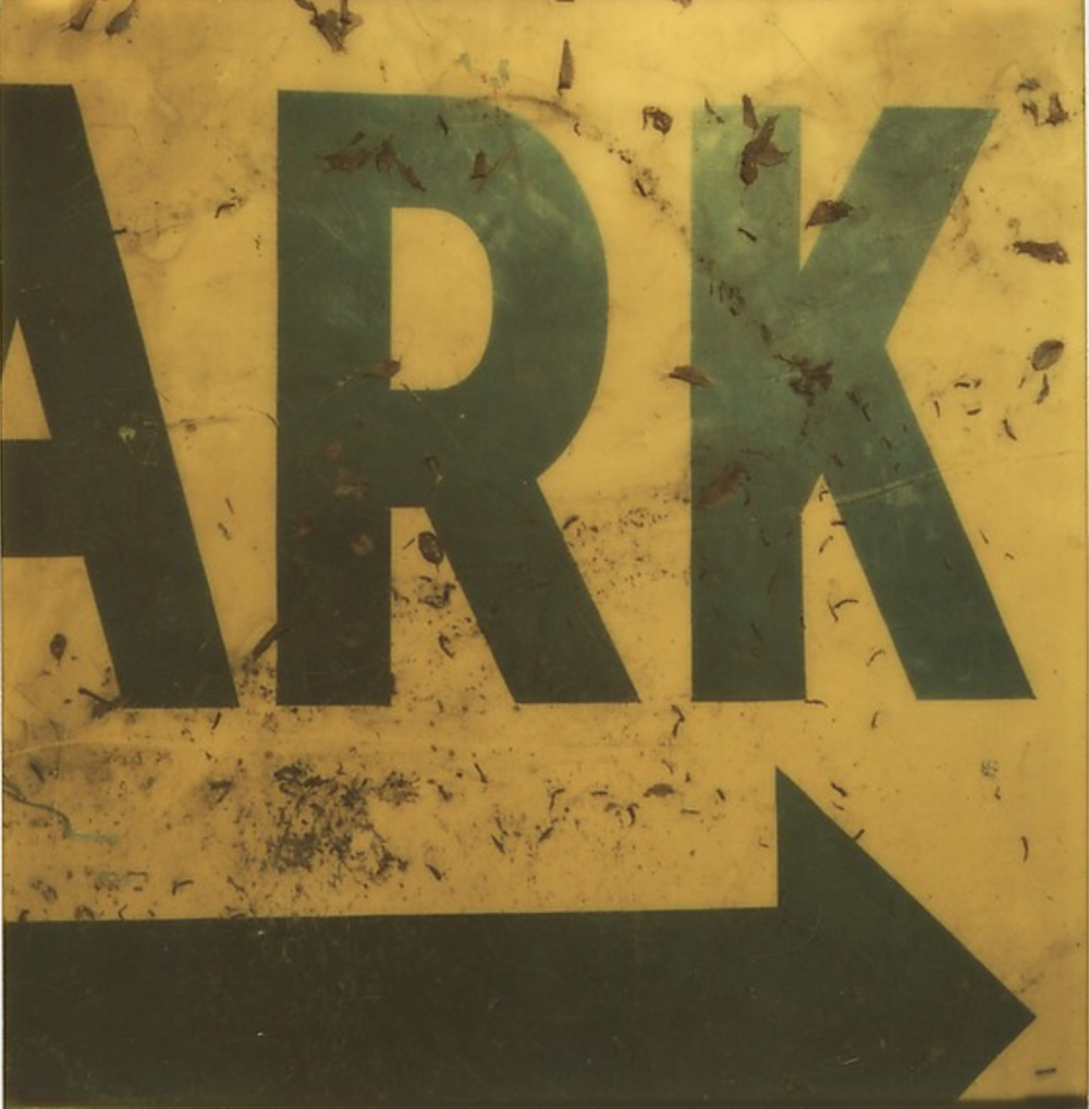 "Detail of Sign: ""ARK"", 1973-74"